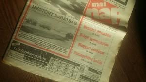 Régi újság... címlapján